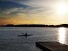 Kajak i solnedgangen